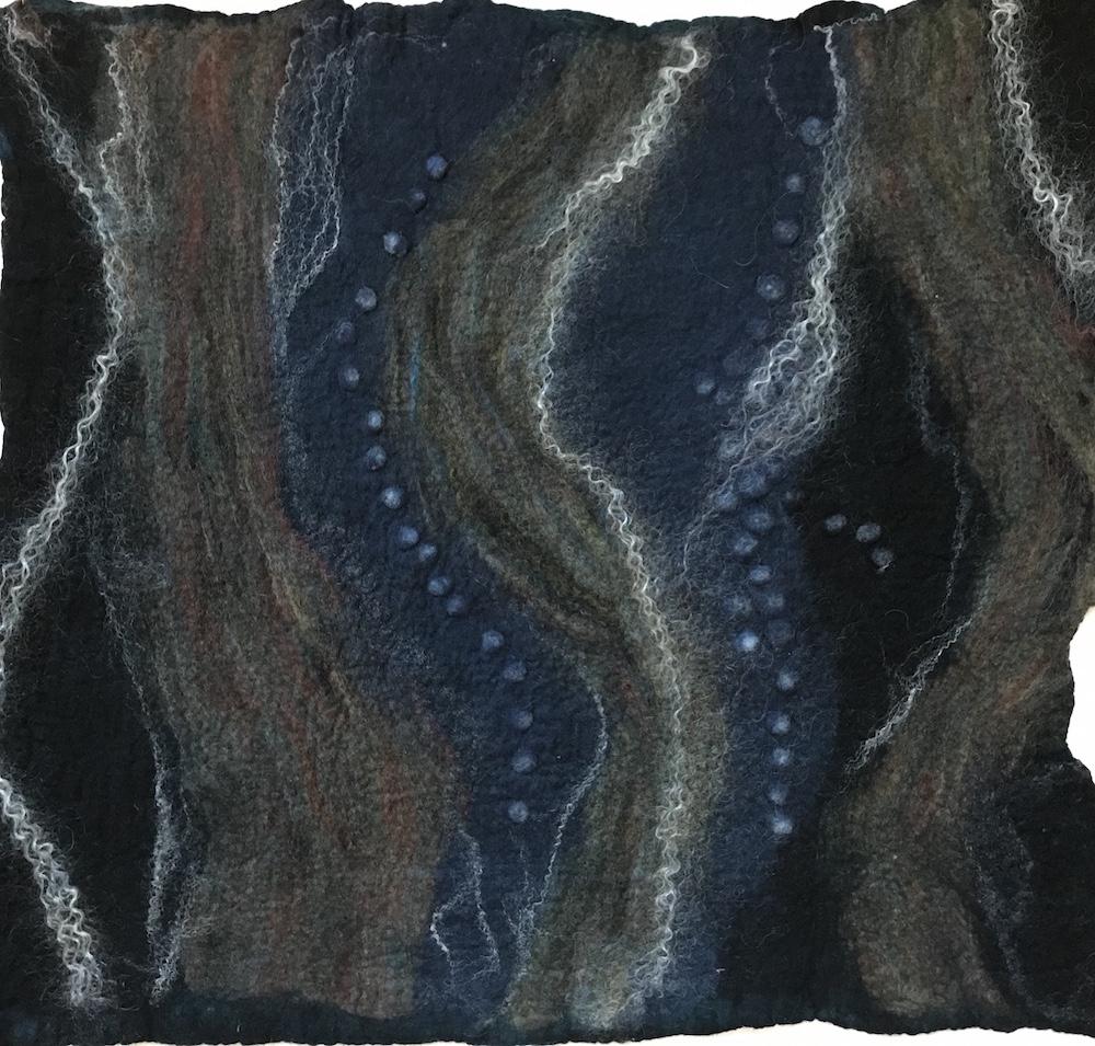 Bright Blue Clouds Felt Flat by Dabney Kirchman