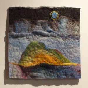 Cloudy Moon unframed felt wall art by Dabney Kirchman