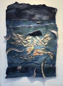 Ocean at Night Felt Wall Art by Dabney Kirchman