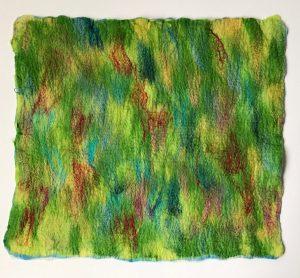 Parrot Green with Silk Felt Flat