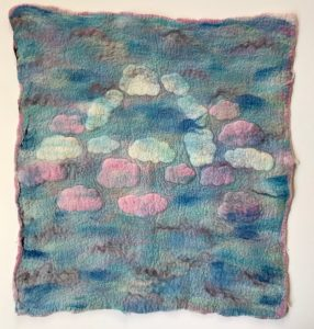 Pastel Clouds with Mohair Felt Flat by Dabney Kirchman