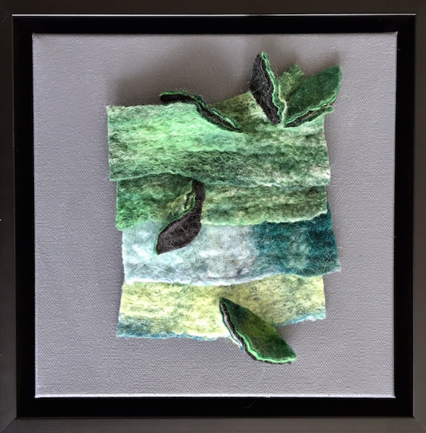 Tree Framed Felt Artwork by Dabney Kirchman